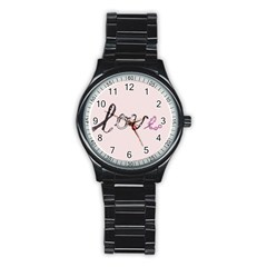 Toy Love Stainless Steel Round Watch