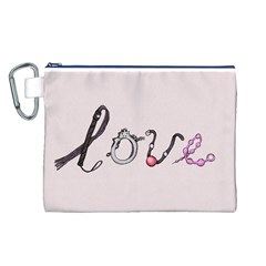 Toy Love Canvas Cosmetic Bag (L)