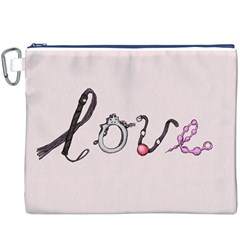 Toy Love Canvas Cosmetic Bag (XXXL)