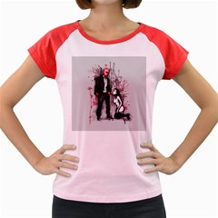 Say Please Women s Cap Sleeve T-Shirt