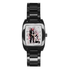 Say Please Stainless Steel Barrel Watch