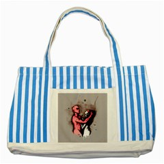 Come Play Striped Blue Tote Bag