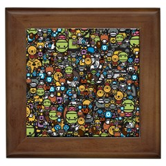 Many Funny Animals Framed Tiles