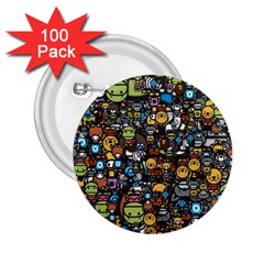 Many Funny Animals 2 25  Buttons (100 Pack)