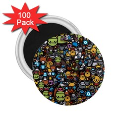 Many Funny Animals 2 25  Magnets (100 Pack)