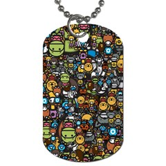 Many Funny Animals Dog Tag (One Side)