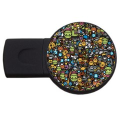 Many Funny Animals USB Flash Drive Round (1 GB)