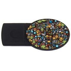 Many Funny Animals USB Flash Drive Oval (2 GB)