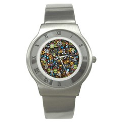 Many Funny Animals Stainless Steel Watch