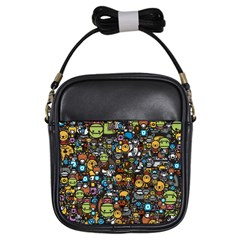 Many Funny Animals Girls Sling Bags