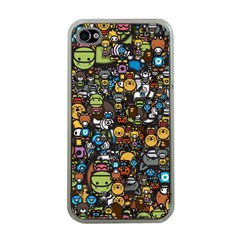 Many Funny Animals Apple iPhone 4 Case (Clear)