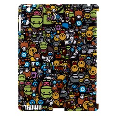 Many Funny Animals Apple iPad 3/4 Hardshell Case (Compatible with Smart Cover)