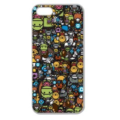 Many Funny Animals Apple Seamless iPhone 5 Case (Clear)