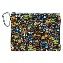 Many Funny Animals Canvas Cosmetic Bag (XXL)