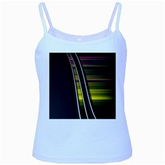 Abstract Multicolor Vectors Flow Lines Graphics Baby Blue Spaghetti Tank