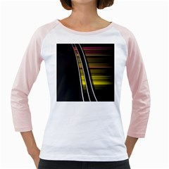 Abstract Multicolor Vectors Flow Lines Graphics Girly Raglans