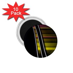 Abstract Multicolor Vectors Flow Lines Graphics 1.75  Magnets (10 pack)