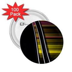 Abstract Multicolor Vectors Flow Lines Graphics 2.25  Buttons (100 pack)