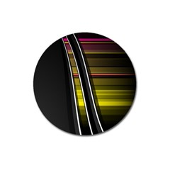 Abstract Multicolor Vectors Flow Lines Graphics Magnet 3  (round)