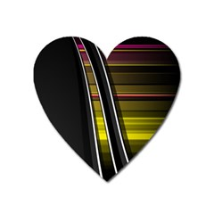 Abstract Multicolor Vectors Flow Lines Graphics Heart Magnet