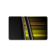 Abstract Multicolor Vectors Flow Lines Graphics Magnet (Name Card)