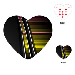 Abstract Multicolor Vectors Flow Lines Graphics Playing Cards (Heart)