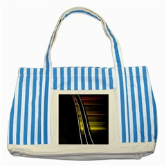 Abstract Multicolor Vectors Flow Lines Graphics Striped Blue Tote Bag