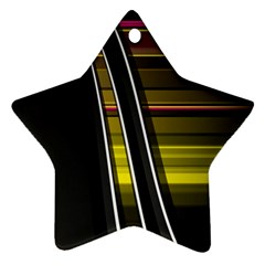 Abstract Multicolor Vectors Flow Lines Graphics Star Ornament (Two Sides)