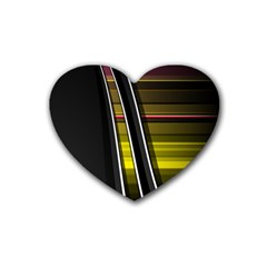 Abstract Multicolor Vectors Flow Lines Graphics Heart Coaster (4 pack)