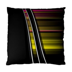 Abstract Multicolor Vectors Flow Lines Graphics Standard Cushion Case (Two Sides)