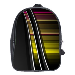 Abstract Multicolor Vectors Flow Lines Graphics School Bags(large)