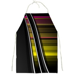 Abstract Multicolor Vectors Flow Lines Graphics Full Print Aprons