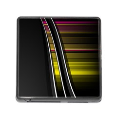 Abstract Multicolor Vectors Flow Lines Graphics Memory Card Reader (square)