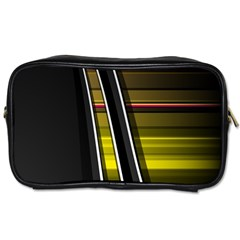 Abstract Multicolor Vectors Flow Lines Graphics Toiletries Bags
