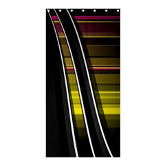 Abstract Multicolor Vectors Flow Lines Graphics Shower Curtain 36  x 72  (Stall)