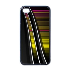 Abstract Multicolor Vectors Flow Lines Graphics Apple iPhone 4 Case (Black)