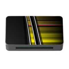 Abstract Multicolor Vectors Flow Lines Graphics Memory Card Reader With Cf