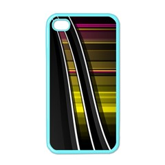 Abstract Multicolor Vectors Flow Lines Graphics Apple iPhone 4 Case (Color)