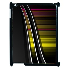 Abstract Multicolor Vectors Flow Lines Graphics Apple iPad 2 Case (Black)