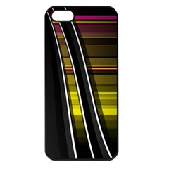 Abstract Multicolor Vectors Flow Lines Graphics Apple iPhone 5 Seamless Case (Black)