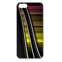 Abstract Multicolor Vectors Flow Lines Graphics Apple Seamless iPhone 5 Case (Clear)