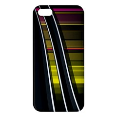 Abstract Multicolor Vectors Flow Lines Graphics Apple iPhone 5 Premium Hardshell Case
