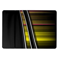 Abstract Multicolor Vectors Flow Lines Graphics Samsung Galaxy Tab 10.1  P7500 Flip Case