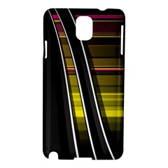 Abstract Multicolor Vectors Flow Lines Graphics Samsung Galaxy Note 3 N9005 Hardshell Case