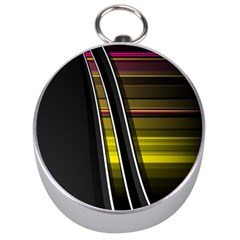 Abstract Multicolor Vectors Flow Lines Graphics Silver Compasses
