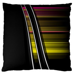 Abstract Multicolor Vectors Flow Lines Graphics Large Flano Cushion Case (Two Sides)