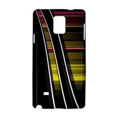 Abstract Multicolor Vectors Flow Lines Graphics Samsung Galaxy Note 4 Hardshell Case