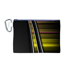 Abstract Multicolor Vectors Flow Lines Graphics Canvas Cosmetic Bag (M)