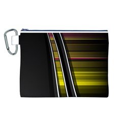 Abstract Multicolor Vectors Flow Lines Graphics Canvas Cosmetic Bag (L)