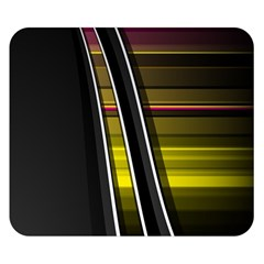 Abstract Multicolor Vectors Flow Lines Graphics Double Sided Flano Blanket (Small)